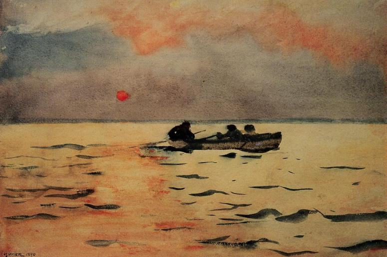 Rowing home (W. Homer, 1890)
