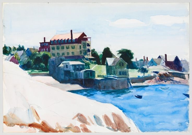 ed-hopper-small-town-on-a-cove-1923-24