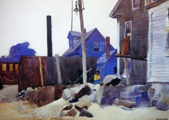 House on the Shore (1924 - watercolour on paper, 35.6 x 50.8 cm)