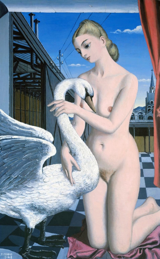 Leda 1948 by Paul Delvaux 1897-1994