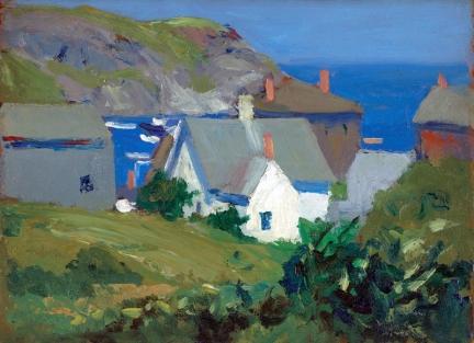 Monhegan Houses (1916-1919 - oil on panel, 22.9 x 33 cm)