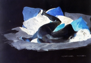 Reclining Nude - in its complementary colours