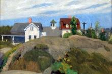 Rocks and Houses, Ogunquit, Maine (1914 - oil on canvas, 61 x 73.7 cm)