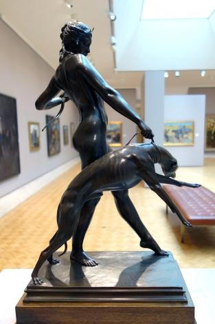 Diana and Hound (1920 - bronze)