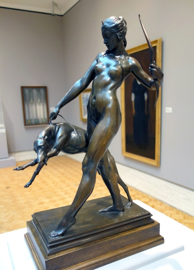 Diana and Hound (1920 - bronze)