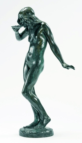 Girl Drinking ... reduced version, bronze