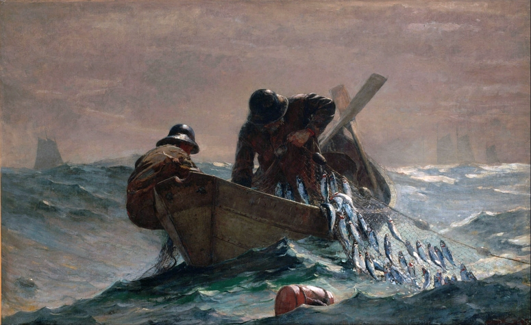 Homer The Herring Net (1885, oil) adj