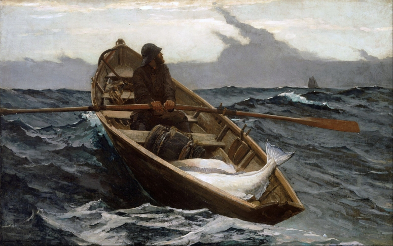 Winslow_Homer_-_The_Fog_Warning (oil 1885) adj2