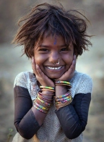 Young Kalbelia girl from Northern India (adj-ret)