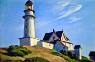 The Lighthouse at Two Lights (1929 - oil on canvas, 74.9 x 109.9 cm)