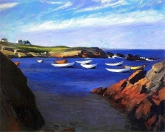 The Dories at Ogunquit (1914 - oil on canvas, 61.4 x 73.7 cm)
