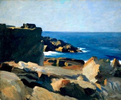Square Rock, Ogunquit (1914 - oil on canvas, 61.8 x 74.3 cm)