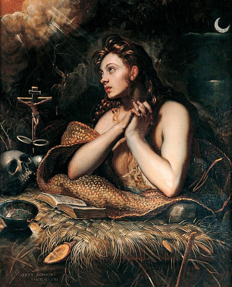 TINTORETTO - Magdalena_penitente_(Musei_Capitolini,_Roma,_1598-1602) Lower