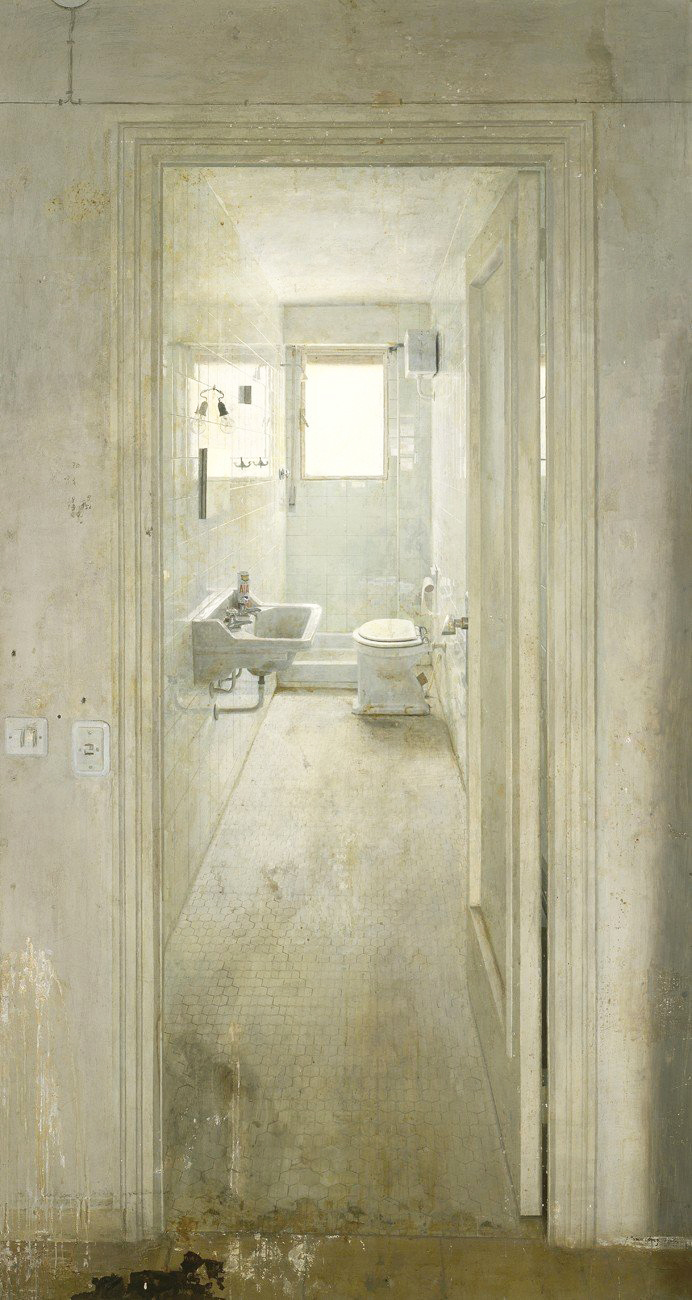 El cuarto de baño (the bathroom) 1966, oil on panel