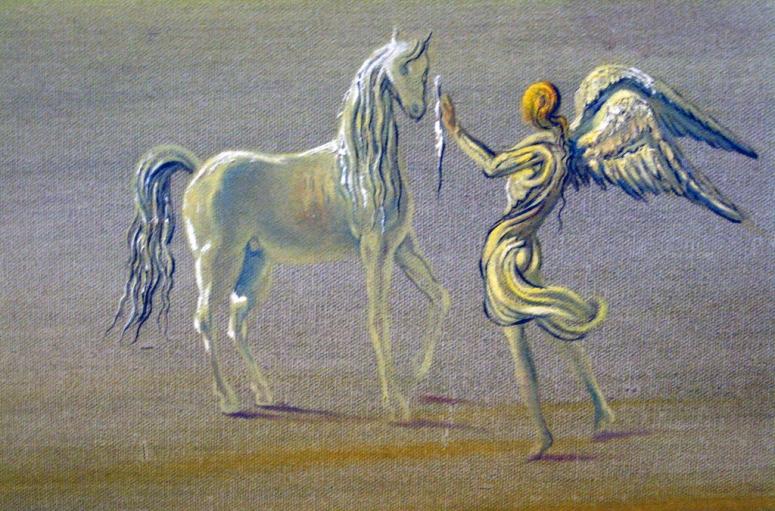Monstre Tou en un paisatge angèlic, 1977 (detall 1b Hd)