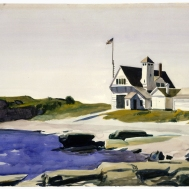 Coast Guard Station, Two-Lights, Maine (1927 - watercolour, gouache and charcoal on paper, 35.2 x 50.5 cm)