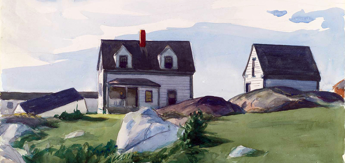 "Edward Hopper (VI) – ""Portraits"" of houses; oils and watercolours – 1912 to 1940"