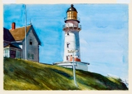 Light at Two-Lights, Maine (1927 - watercolour on paper, 35.6 x 50.8 cm)