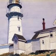 Light at Two-Lights, Maine (1927 - watercolour on paper)