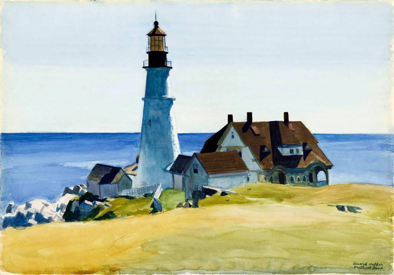 portland head light 1927, watercolour (adj)