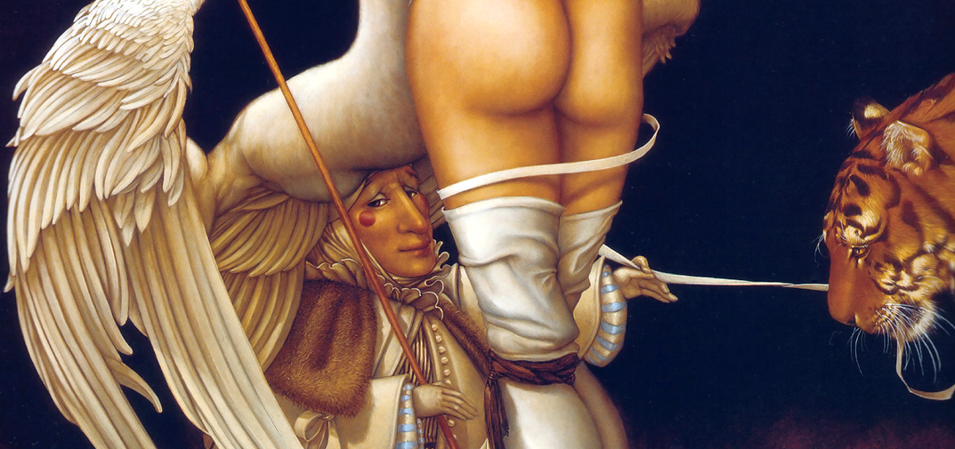 Leda, angels, swans, tigers and disquieting puppeteers in the work of Michael Parkes