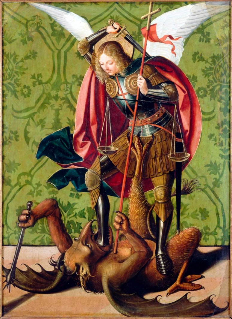 St Miquel derrotant el Dragó-Satan