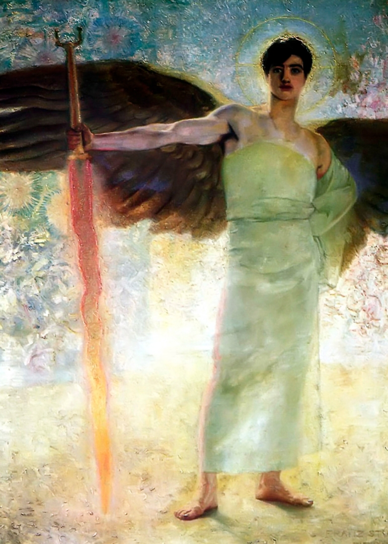 Der Wächter des Paradieses (1889 - oil on canvas, 167 x 250 cm)