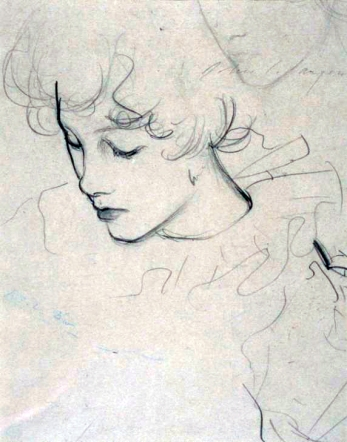 Polly Barnard 1885-6 - J. S. Sargent, 1856-1925 (graphite on paper, 28 × 23·5 cm)