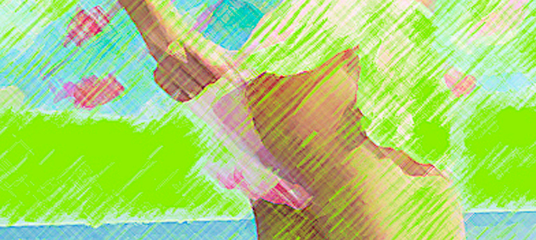 In the beach - sketch detail WPLx 2 Green
